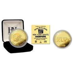 Super Bowl XLVI Champions Gold Coin