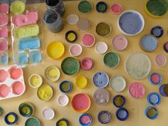 Make your own paint. Vinegar, grated chalk, baking soda, corn flour - my kids would love this, they love making potions