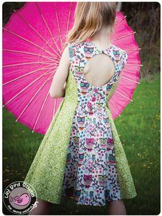 Robe Juliette - 2 à 10 ans - PDF Pattern et Instructions - panelled robe, jupon, dos aéré, options de la jupe 2, vintage inspiré