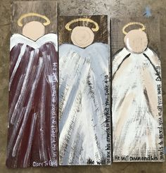 Hand painted angels on reclaimed boards $15 each