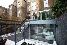 PEEK Architecture + Design. Chelsea Townhouse. Basement extension, Rear terrace garden www.peekarchitecture.co.uk