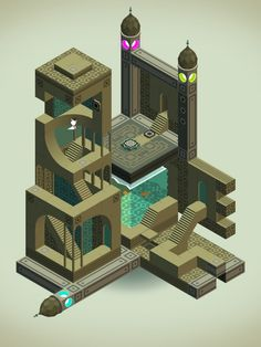 Escher Relativity Stairs in Monument Valley Game by ustwo