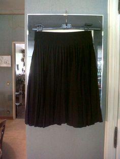 """Dark Blue Claude Montana silk shantung """"thousand folds"""" skirt"""