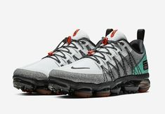 The Nike Air VaporMax Utility Tropical Twist (Style Code: comes dressed in a White/Black-Tropical Twist-Team Orange colorway with a release date Nike Air Shoes, Nike Air Vapormax, On Shoes, Air Max Sneakers, Me Too Shoes, Shoes Sneakers, Sneakers Sketch, Baskets, Running Shoes For Men