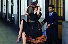 viaje al pasado: coco rocha by xavi gordo for elle spain september 2012 |