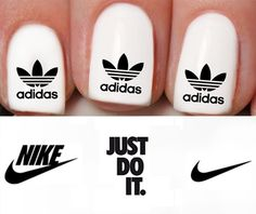 Nike Adidas Nail Decals for Nair Art by TATTOOSBYFRENZYFLARE