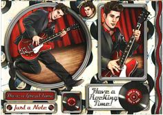 Debbi Moore Designs - Rock and Roll card toppers #1