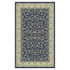 Rugs America 2361 Monticello Naiin Area Rug, Navy  Monticello Naiin Navy Area RugThe traditional elegance of classical Persian rugs meets modern technology