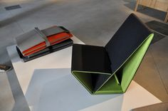 Vouwwow foldable lounge by Studio Nuy van Noort (Photo: Edoardo Campanale/Gizmag)