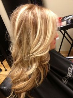 Warm dimensional Blonde Hair