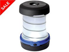 A compact LED lantern ideal for camping or as an emergency light at home.