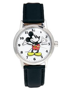 Disney Black Mickey Mouse Ingersoll Classic Watch