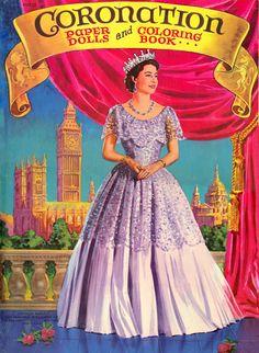 Coronation of Queen Elizabeth/Look how pretty her dress is! Exactly how a beautiful young queen should look.