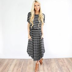 """1,132 Likes, 17 Comments - Shop Stevie (@shopsteviehender) on Instagram: """"The Bridgette stripe dress (with pockets!) another new style from last night! --Shopstevie.com"""""""