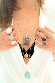 Inspiration bijoux plaqués or bagues colliers