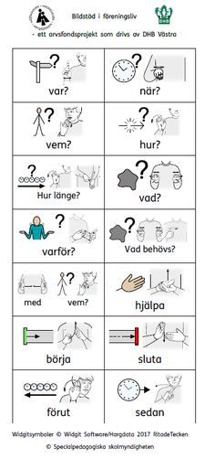 Bildstöd, pdf dokument, programfiler, videoklipp – Bildstöd vid föreningsaktiviteter Learn Swedish, Swedish Language, Sign Language, Special Needs, Pre School, Good To Know, Work Hard, Kindergarten, Teaching