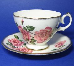 Queen Anne Royal Roses Tea Cup and Saucer