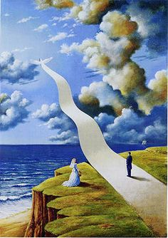 - rafal olbinski. #artwork #surrealism http://www.pinterest.com/TheHitman14/artwork/