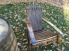 Adirondack chair from whisky barrel