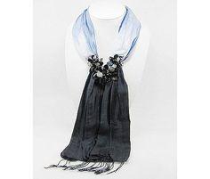 Jeweled scarf.