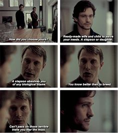 """How is he choosing them?"" Hannibal 3x09 And the Woman Clothed With the Sun. Source: grahamewill.tumblr"
