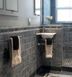 slate tiles for bathroom floor photo - 4