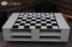Pallet Chess Or Draught Coffee Table Pallet Coffee Tables