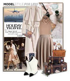 """""""Travel in Style, Holiday Edition"""" by shortyluv718 ❤ liked on Polyvore featuring Guide London, Naomi Campbell, H&M, River Island, Chicwish, Dot & Bo, C Label, Charlotte Olympia, Bueno and travelinstyle"""