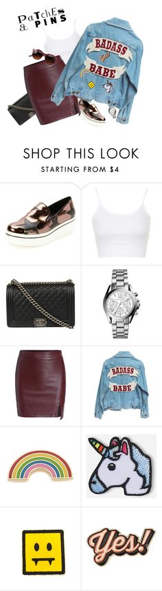 """""""Patch - Pin"""" by marketazemanova ❤ liked on Polyvore featuring STELLA McCARTNEY, Topshop, Chanel, Michael Kors, Georgia Perry, Hipstapatch, Anya Hindmarch and patchesandpins"""
