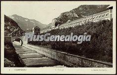 Estación de Canfranc (Huesca). Foto antigua de CANFRANC, HUESCA (ARAGON). Plusesmas.com