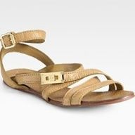 Tory Burch Dalcin Pebbled Leather Gladiator Sandals: My feet are begging me for these.  #Tory_Burch #Gladiator_Sandal
