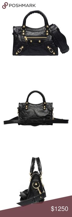968d6c73a1f Balenciaga Classic Giant 12 Mini City Shoulder Bag NEW Balenciaga Classic  Giant 12 Mini City Black