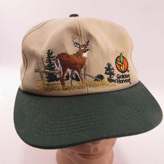 db7672e5d4e Details about Vintage Golden Harvest Hat Adjustable Snapback Cap Deer  Hunting Trucker Hunter