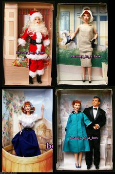 I Love Lucy NO BOXES Santa Claus Gets A Paris Gown Ricky Episode 50 Barbie Doll