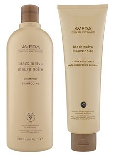 AVEDA Black Malva Shampoo and Color Conditioner... designed to enhance cool,  dark shades and reduce red tones