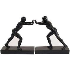 Leaning Man Bookends Set Of 2  by Home Decorators Collection $36 +8 s