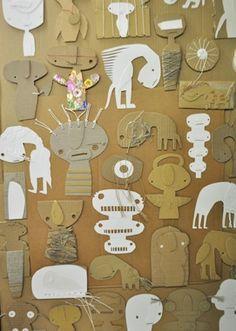 Steen Drabik Cardboard monsters