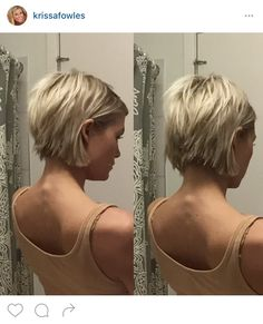 Short choppy bob haircut. …