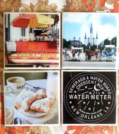 Check out this item in my Etsy shop https://www.etsy.com/listing/124842889/new-orleans-coasters-set-of-four-nola