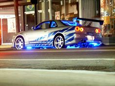 Nissan Skyline GTR Fast and Furious Movie Skyline Gtr R34, R34 Gtr, Nissan Gt R, Luxury Sports Cars, Sport Cars, Fast And Furious, Paul Walker Car, Film Cars, Movie Cars
