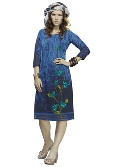 #Blue #Georgette #Kurti.  #Blue #Georgette #Printed #Work #Kurti.Product #colour & #Patch Patta.  INR: 675.00  With Exclusive Discounts  Grab: http://tinyurl.com/hyxrlte