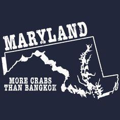 Maryland state motto tee MD slogan shirt funny crabs tee shirt tshirt more crabs than bangkok offensive rude humorous mens med guys large