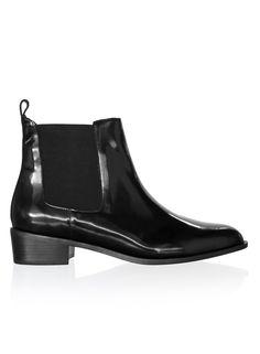 Tilly High Shine Leather, Sambag, $320