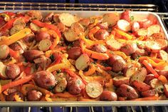 Deals to Meals: Potato Piperade (Roasted Potatoes & Bell Peppers)