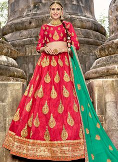 ae7a190b4c Buy wedding lehenga choli online buy all latest design. This amusing raw  silk lehenga choli for reception and wedding.