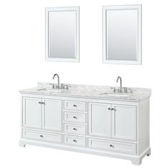 Gallery One Wyndham Collection Deborah inch Double Bathroom Vanity with inch Mirrors