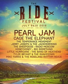 Pearl Jam is headlining the 5th annual @RideFestival on Saturday, July 9! Tickets available beginning 3/4 at 11am MST. More info at RIDEfestival.com #PearlJam #RideFest2016