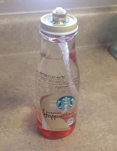 How to Create an Oil Lantern using a Starbucks Frappuccino Bottle | Put it in a Jar