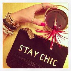 Stay Chic clutch from American Eagle. I can never have enough of these handy little bags. Got it on sale too!