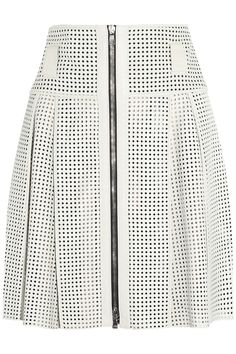 Proenza Schouler|Perforated leather skirt|NET-A-PORTER.COM